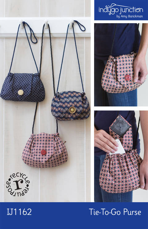 Recycled Tie-to-Go Purse Pattern at Makerist