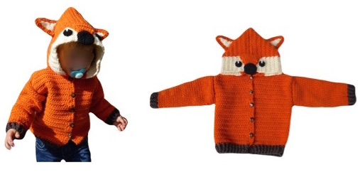 """E-Book """"Fox-Jacket"""" size newborn up to age 8 years"""