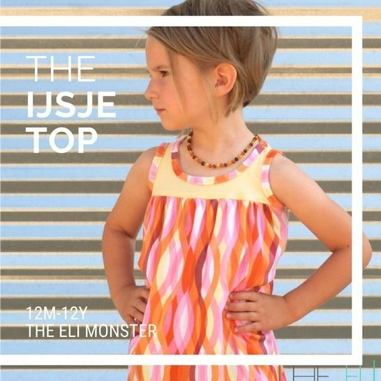 The Ijsje Top Sewing Pattern for sizes 2y-12y at Makerist - Image 1