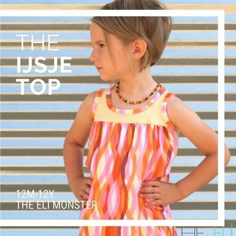 The Ijsje Top Sewing Pattern for sizes 2y-12y at Makerist