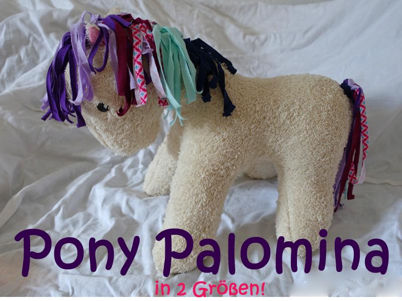 Stofftier Pony Palomina Kuscheltier Pferd Einhorn Pegasus
