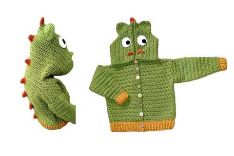 "E-Book ""Dragon-Jacket"" size newborn up to age 8 years at Makerist"