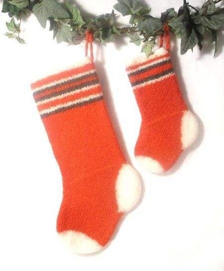 Simple Felt Christmas Stocking- Knitting Pattern at Makerist - Image 1