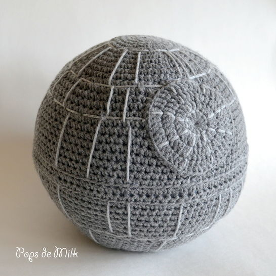 Star Wars Death Star Crochet Pillow at Makerist - Image 1
