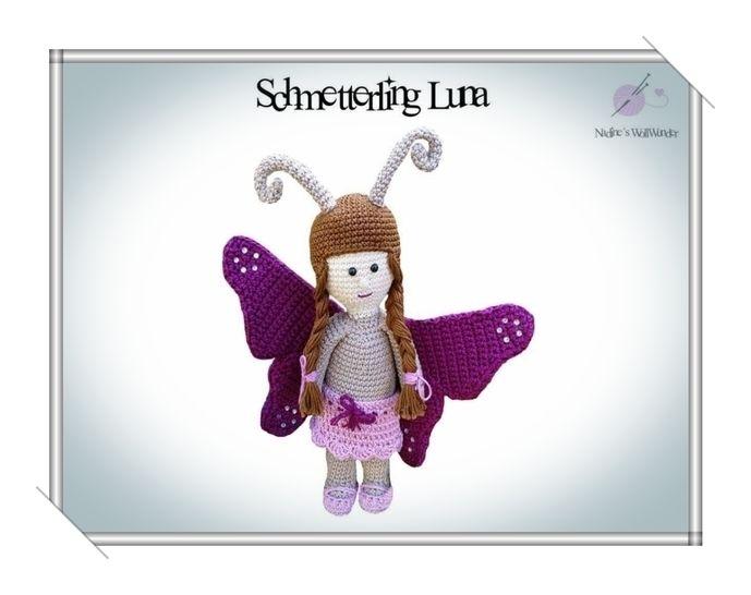 Häkelanleitung: Schmetterling Luna bei Makerist - Bild 1
