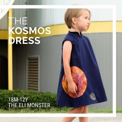 The Kosmos Dress Sewing Pattern Sized 18m-12y