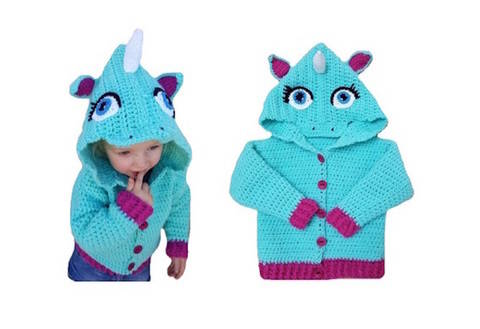 "E-Book ""Unicorn-Jacket"" size newborn up to age 8 years at Makerist"