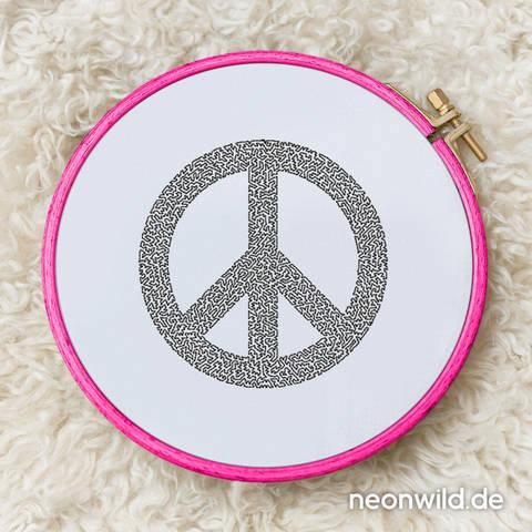 Stickdatei EEE - Peace 10x10