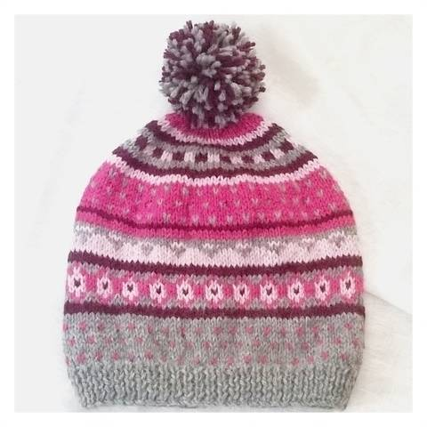 """Lena"" fairisle hat at Makerist"