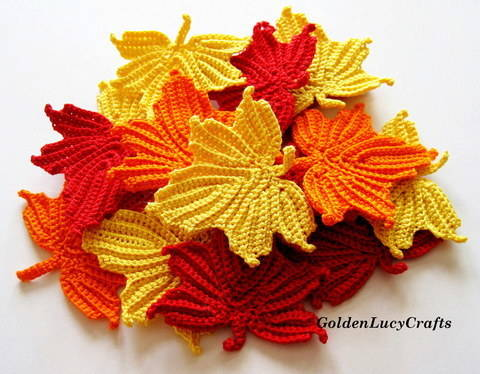 Maple Leaf Applique Crochet Pattern at Makerist