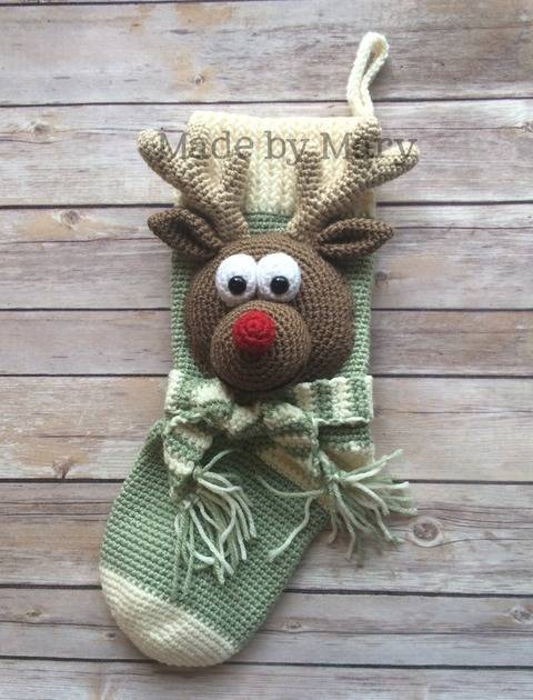 Rudolph Christmas Stocking at Makerist