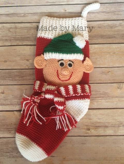 Elf Christmas Stocking at Makerist