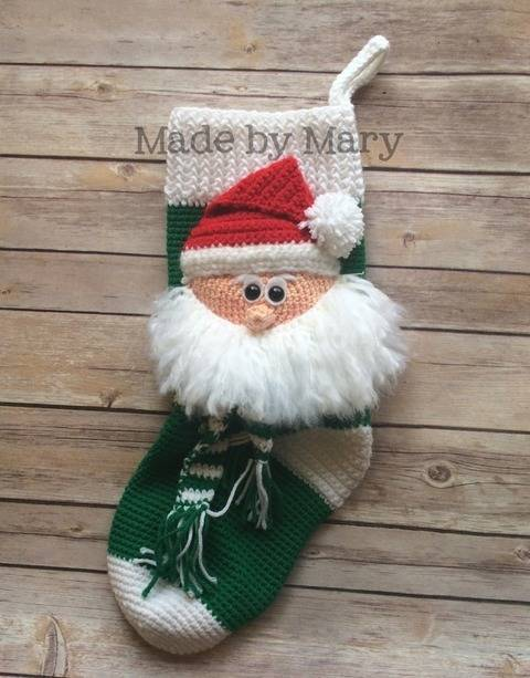Santa Claus Christmas Stocking at Makerist