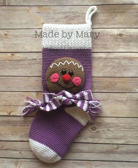 Gingerbread Christmas Stocking at Makerist