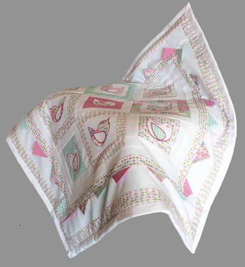 Baby quilt pdf pattern and tutorial - Calling the spring at Makerist