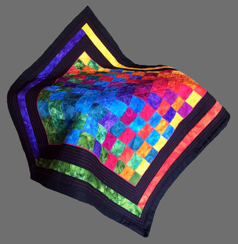 Baby quilt pdf pattern and tutorial - Woven Rainbow at Makerist