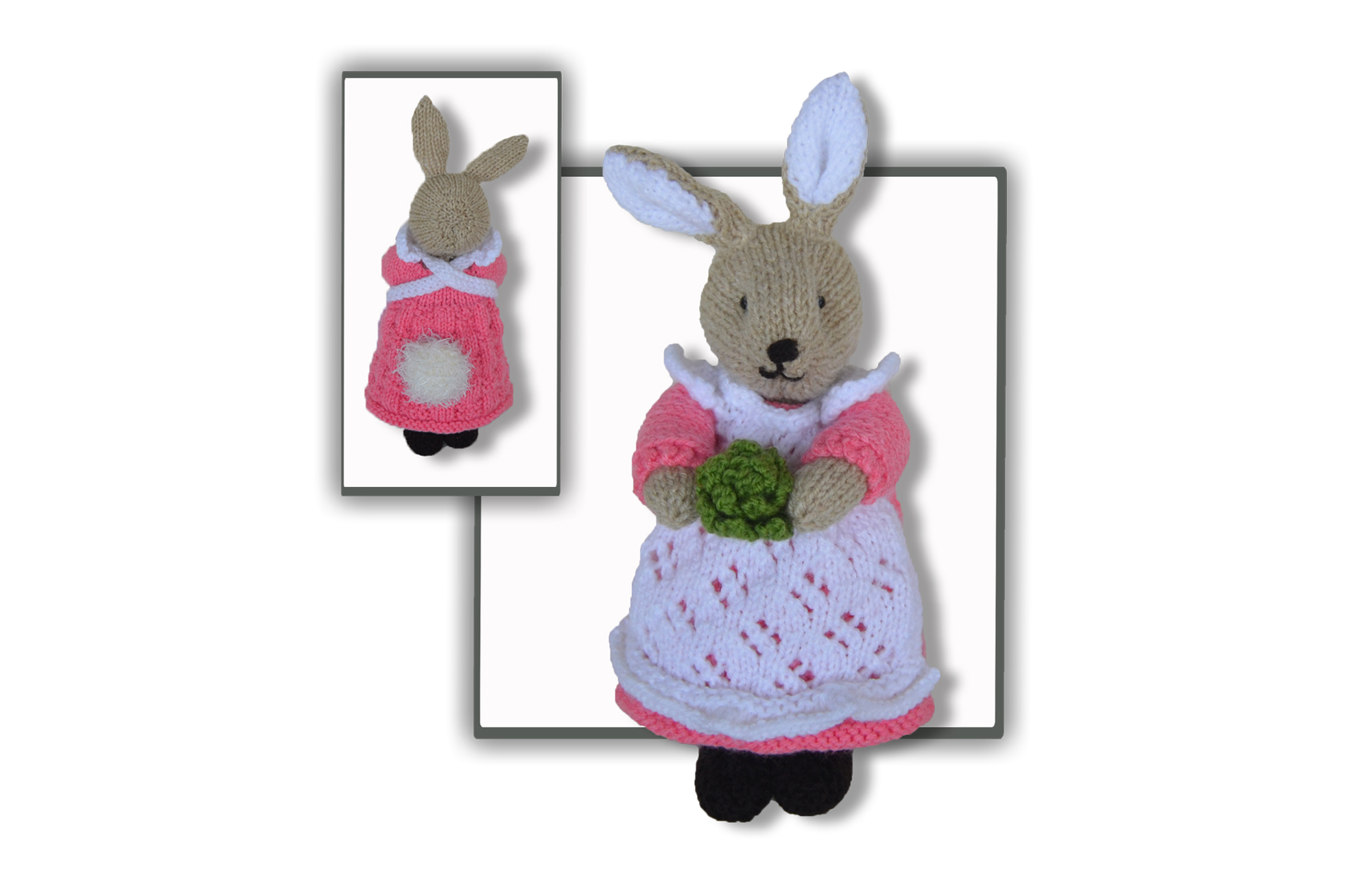 Beatrix Flufftail Bunny Rabbit - knitted toy