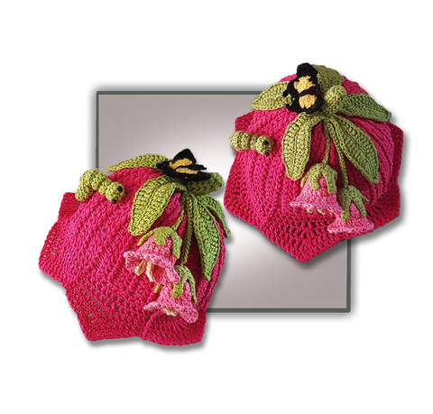 Pink Lily Beanie Hat  (Birth to Teen) at Makerist