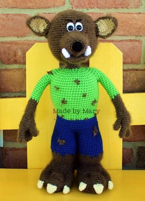 Wendell the Werewolf Amigurumi at Makerist