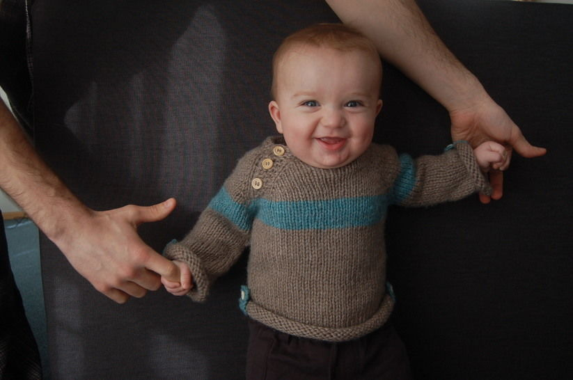 Baltic baby sweater - knitting pattern at Makerist - Image 1