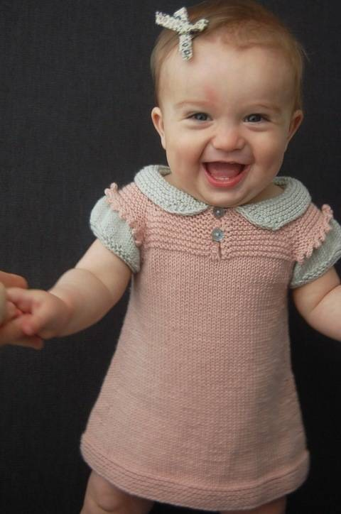 Claudine Layered Top or Dress - knitting pattern