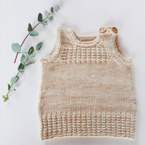 Little Vest or Dress - knitting pattern