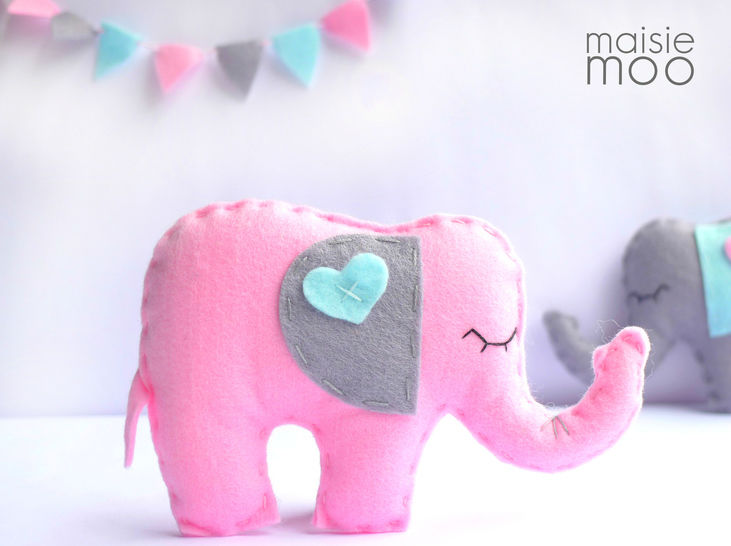 Felt Elephant Sewing Pattern  at Makerist - Image 1