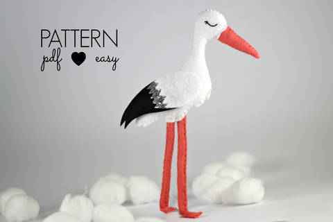 Stork Felt Sewing Pattern at Makerist