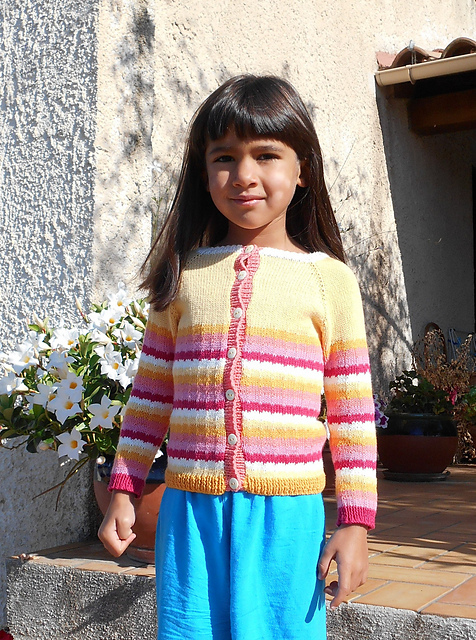 Friandise - cardigan for babies and children