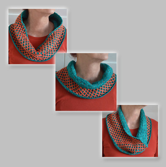 Reversible Diamond Cowl Scarflette at Makerist - Image 1