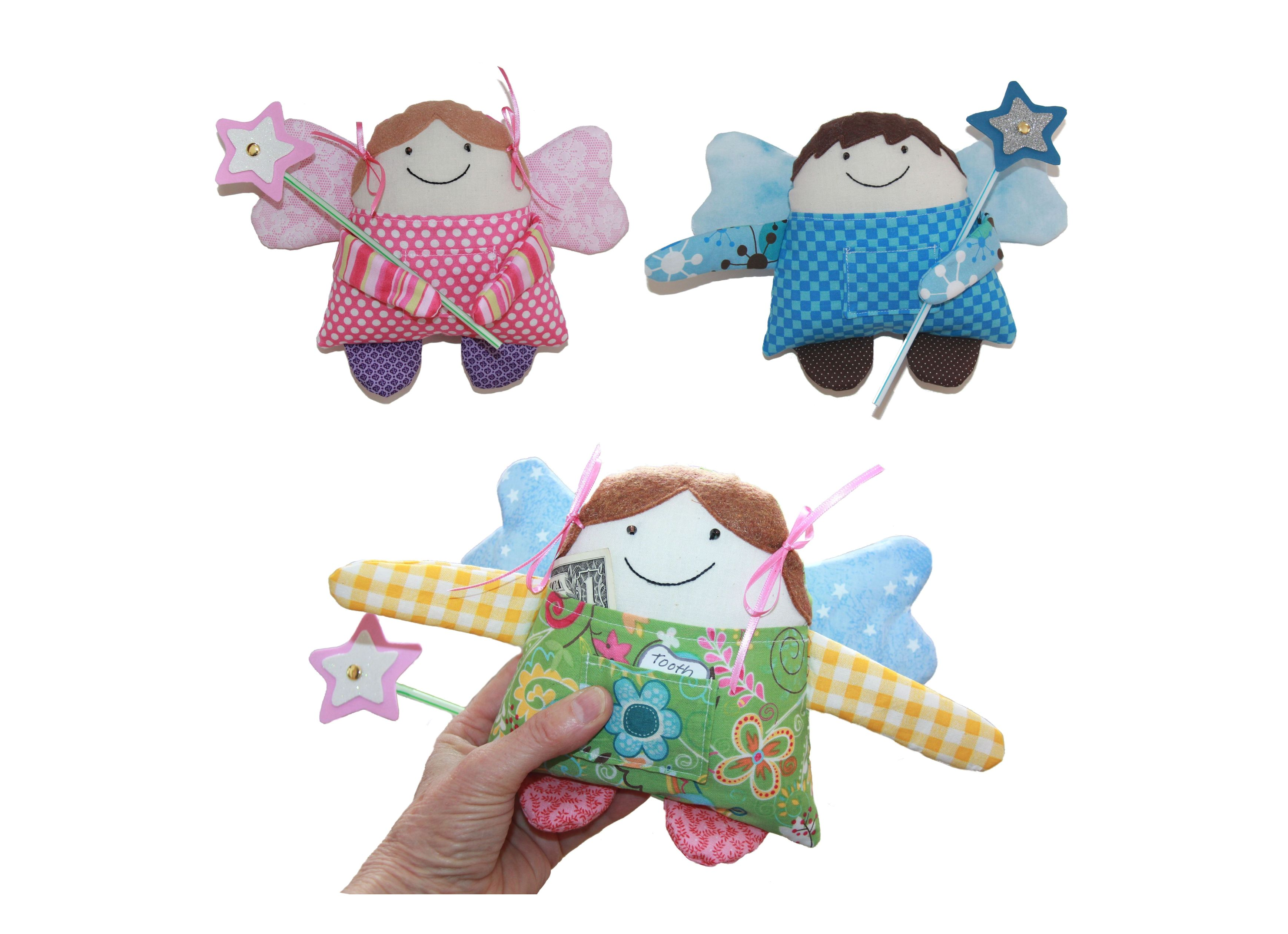 Tooth Fairy or Little Angel Boy or Girl Doll Sewing Pattern