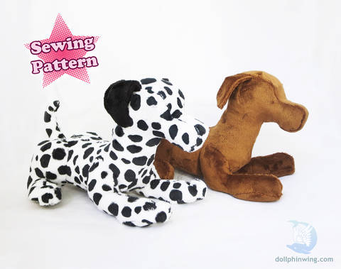 Laying Dog Plush Pattern at Makerist