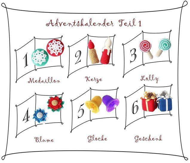 "PDF-Häkelanleitung ""Adventskalender Teil I""  bei Makerist - Bild 1"