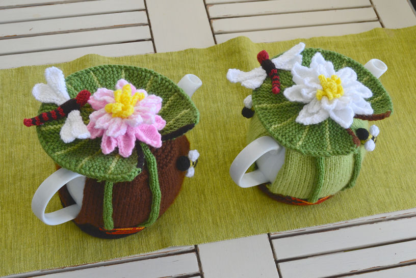 Water Lily & Dragonfly Tea Cozy at Makerist - Image 1