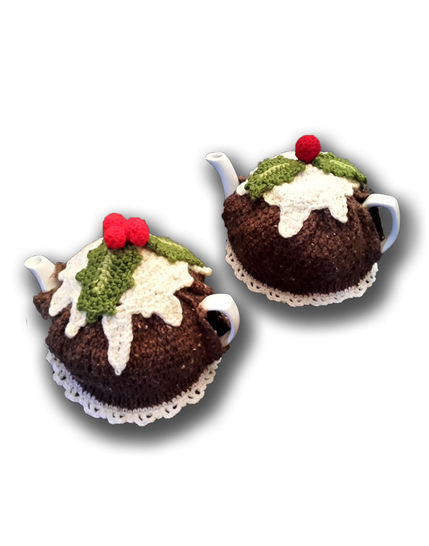 Christmas Pudding Tea Cosy with Custard  at Makerist - Image 1