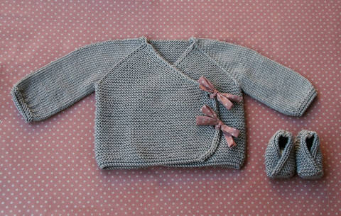 Lil Kimonos - Baby wrap and booties knitting pattern