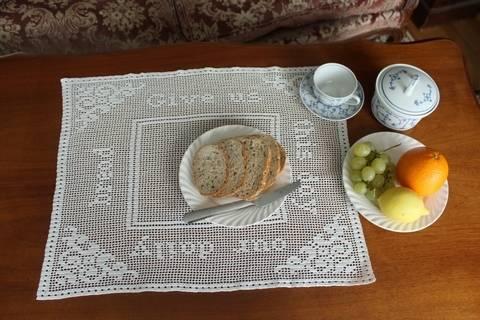 'Give us our daily bread' filet crochet doily (en) bei Makerist