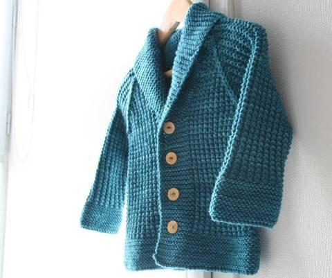 Oscar - Child cardigan knitting pattern