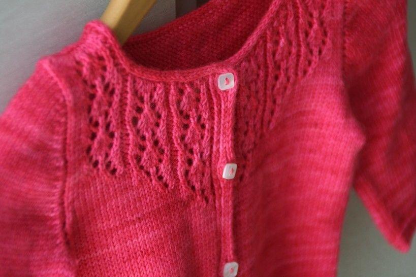 Little Trellis Child Cardigan Knitting Pattern at Makerist - Image 1