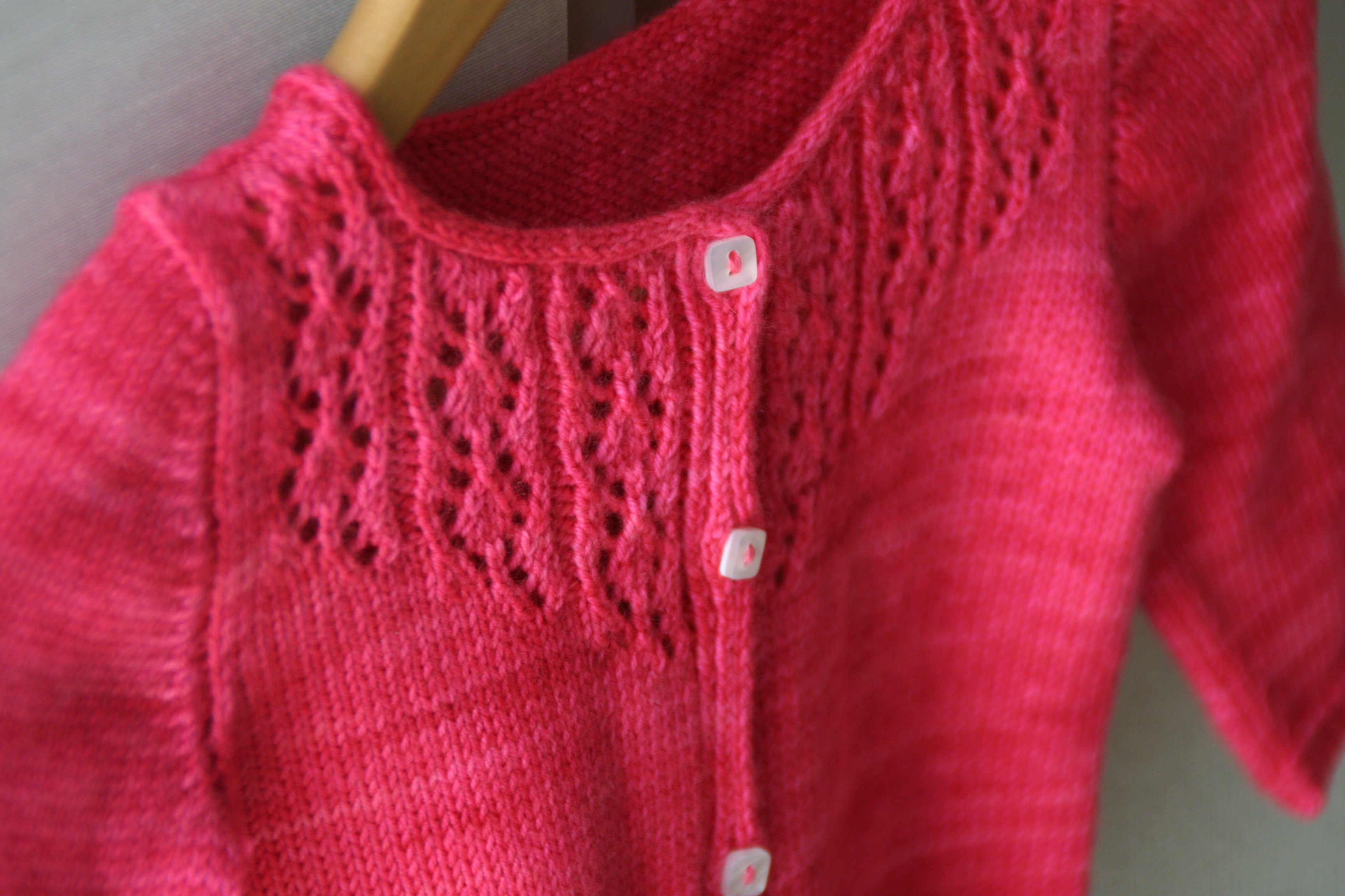 Little Trellis Child Cardigan Knitting Pattern