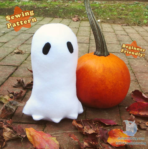 Halloween Ghost Plushie PDF Sewing Pattern at Makerist