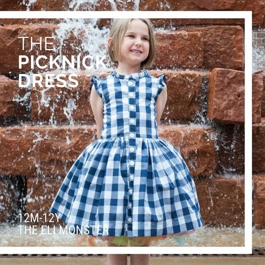 The Picknick Dress - Sewing Pattern for sizes 12m-12y at Makerist - Image 1