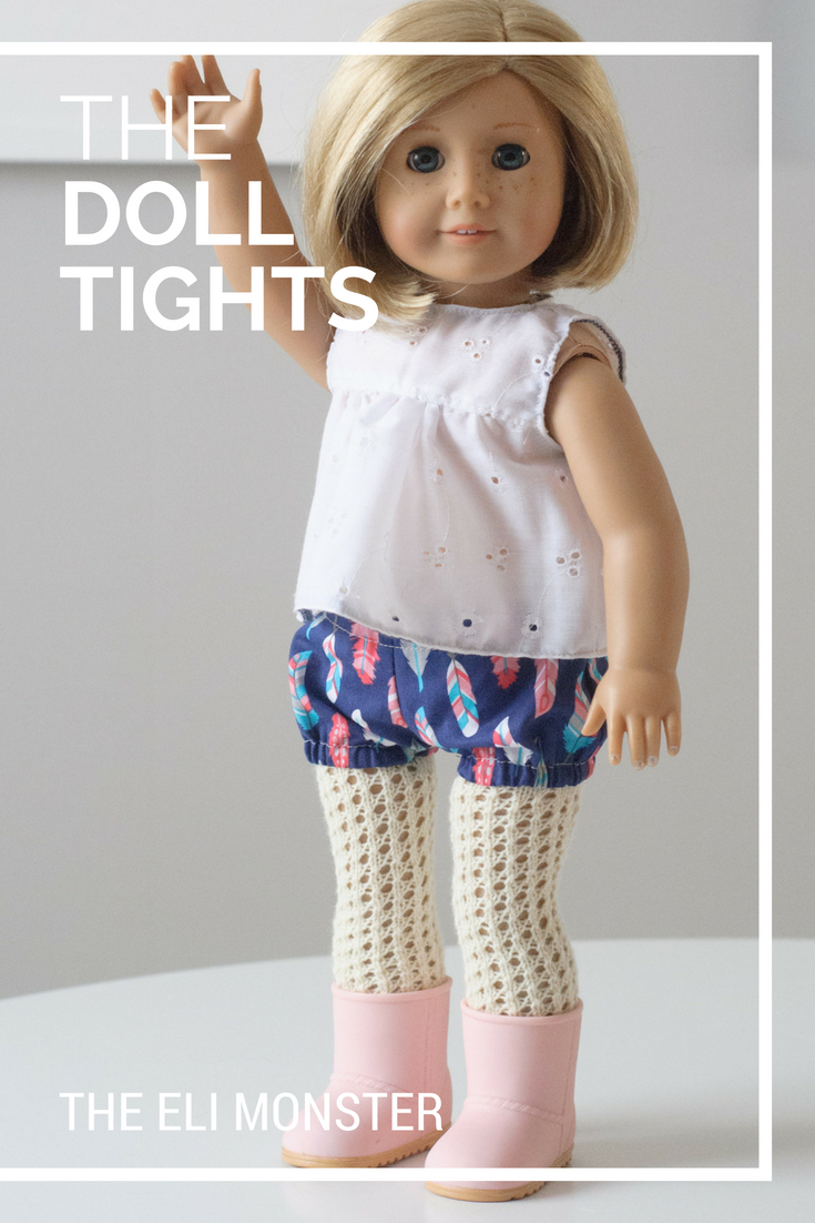 "The Doll Tights Knitting Pattern for 18"" Dolls"