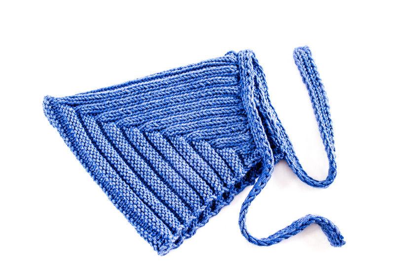 KNITTING PATTERN, Pixie Hat Pattern, Retro Style Hat, Knitting Pattern, Ribbed Hat With Tie-bands, Baby Hat, Toddler Hat, Kids Hat (en) bei Makerist - Bild 1