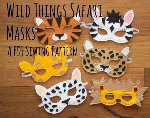Wild Things - Lion, Leopard, Tiger, Giraffe, Zebra Masks / Costumes (en)