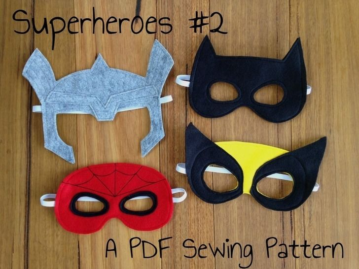 Superhero Masks - Spiderman, Thor, Wolverine and Batman Costumes (en) bei Makerist - Bild 1