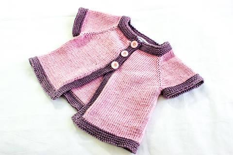 KNITTING PATTERN, , Baby Jacket Knitting Pattern, French Fashion Inspired Baby Pattern, PDF (en) bei Makerist
