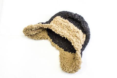Baby Aviator Hat - Knitting pattern - Kids Trapper Hat (en) bei Makerist