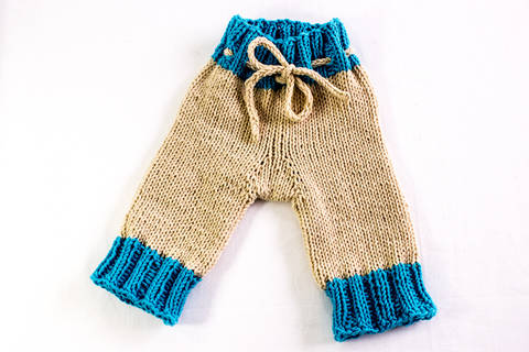 KNITTING PATTERN, Knitted Designer Baby Pants, Baby Shorts , Baby Trousers , In 5 Sizes, Baby Pants Pattern (en)