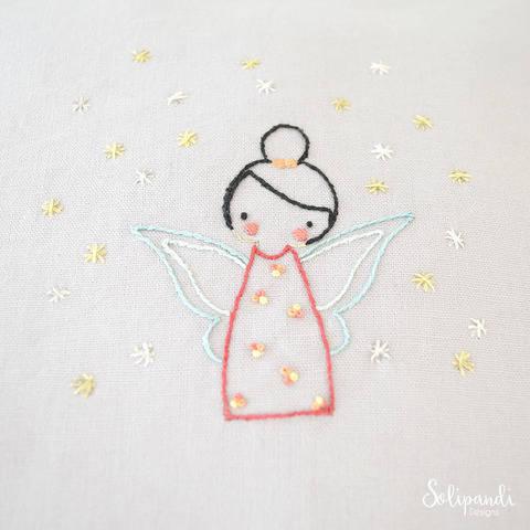 Little Fairy, hand embroidery PDF pattern & instructions (en) bei Makerist